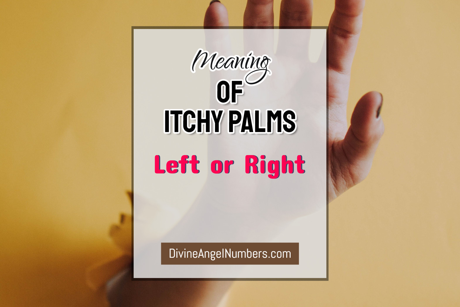 Meaning Of Itchy Palms Of Your Right Or Left Hand