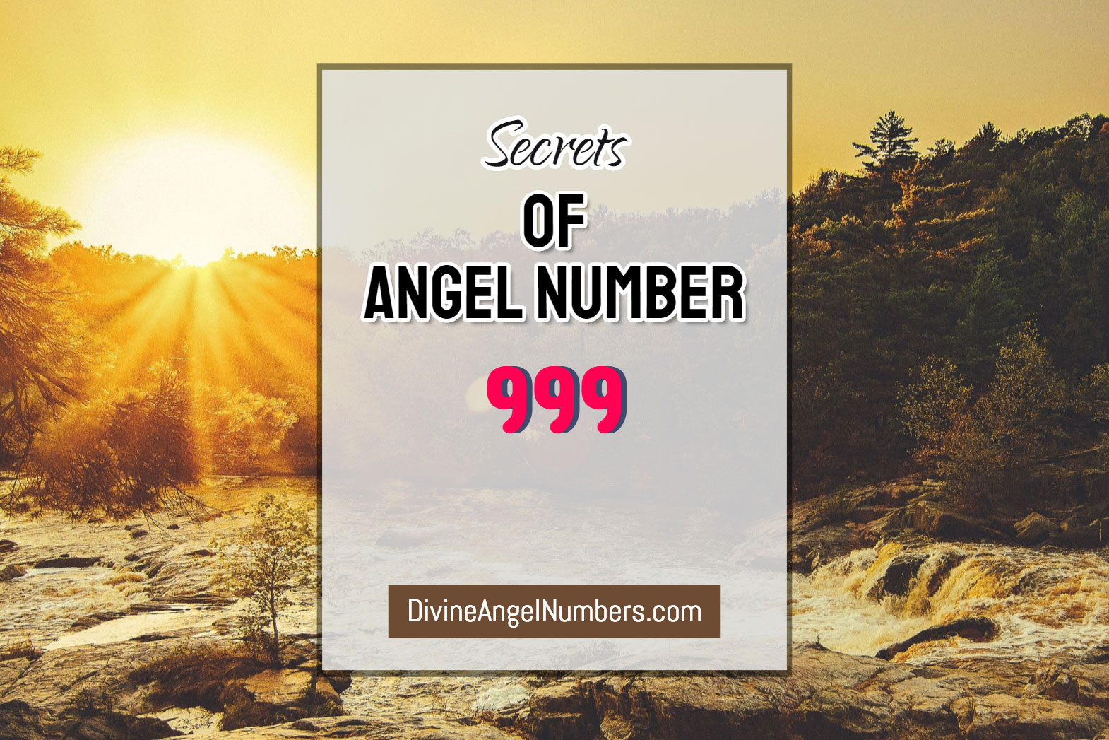 6 Reasons Why You Are Seeing Angel Number 999 - Meaning Of 999