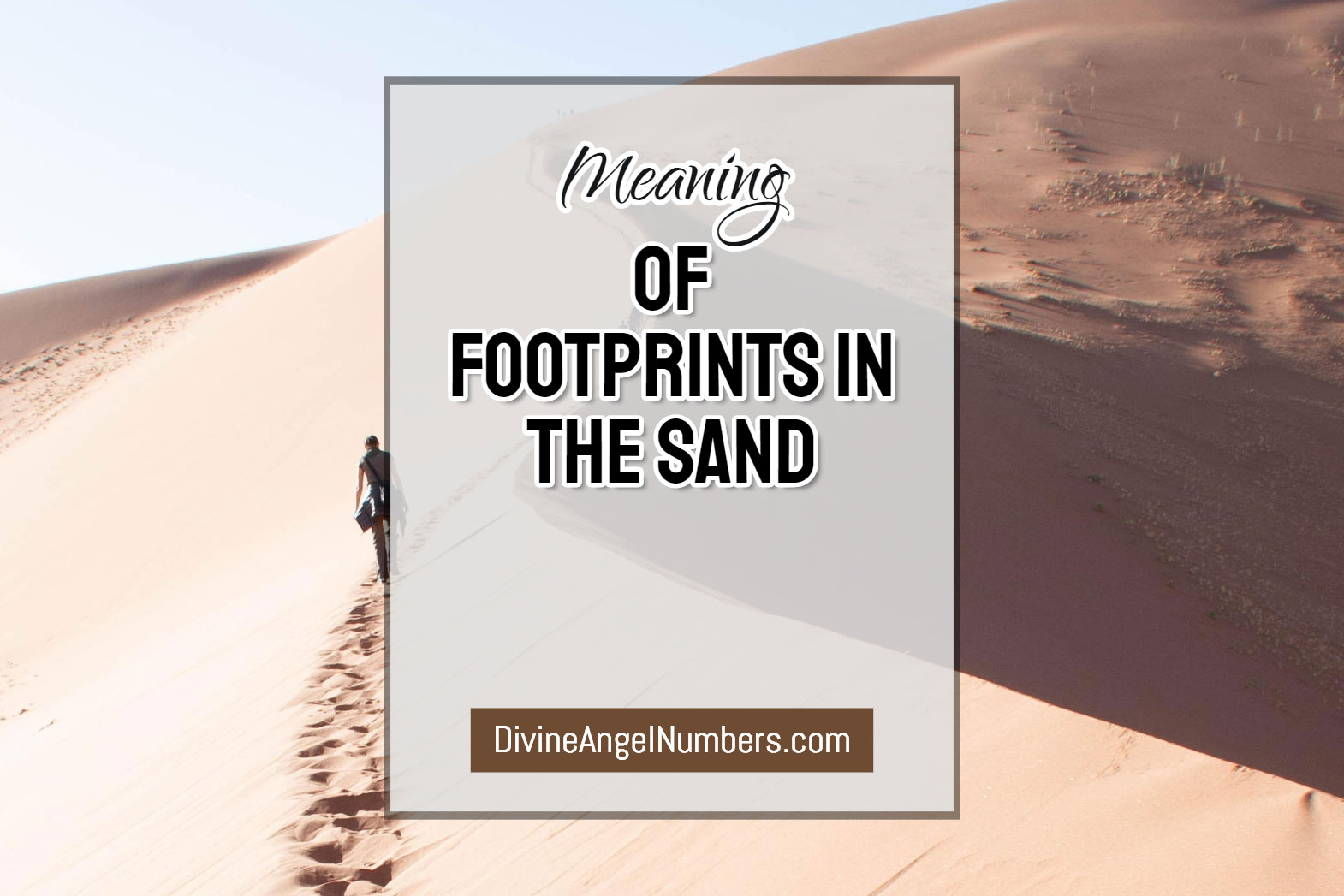 Footprints In The Sand Poem - Explanation & Meaning
