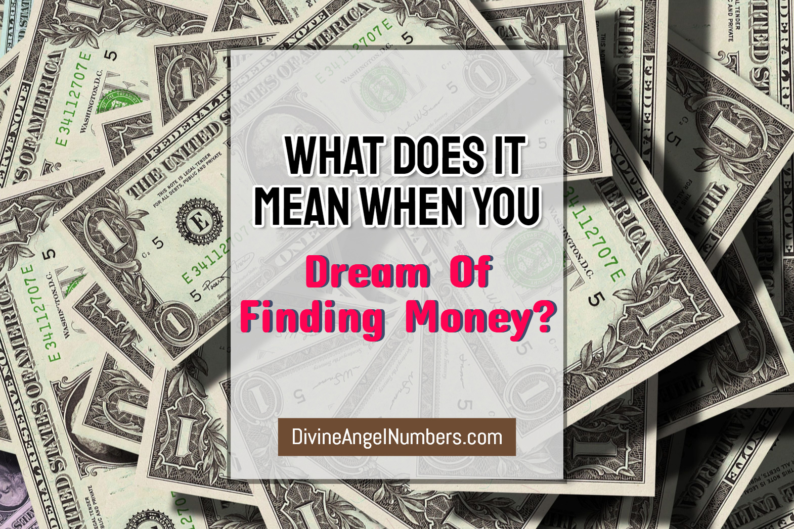 Dream Of Finding Money?