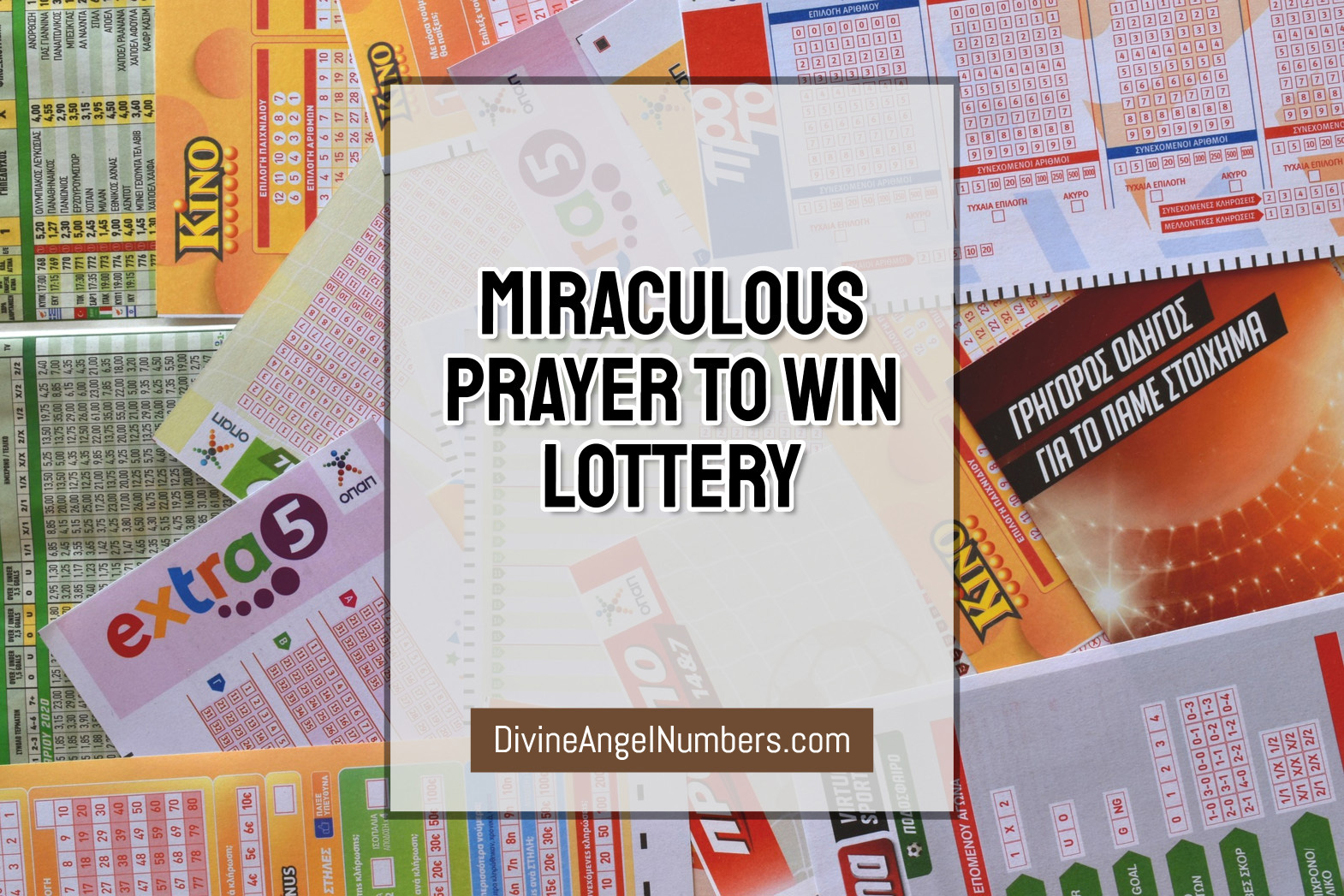 Miraculous Prayer To Win Lottery