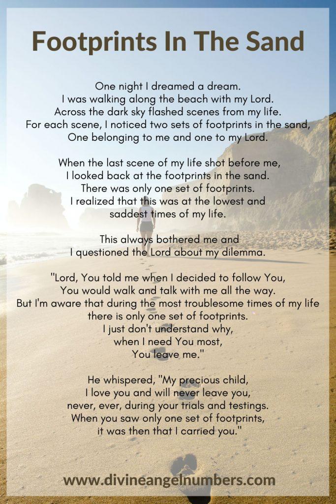 Footprints In The Sand Poem