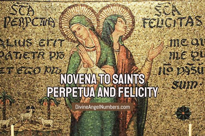 Novena to Saints Perpetua and Felicity