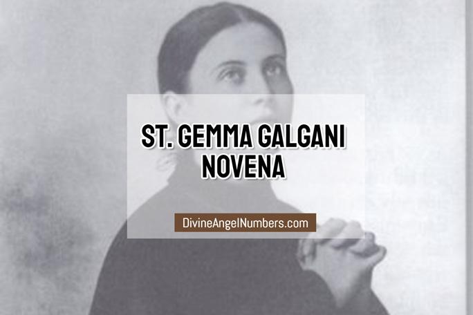 St. Gemma Galgani Novena