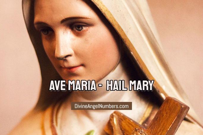 Ave Maria: Hail Mary In Spanish Language