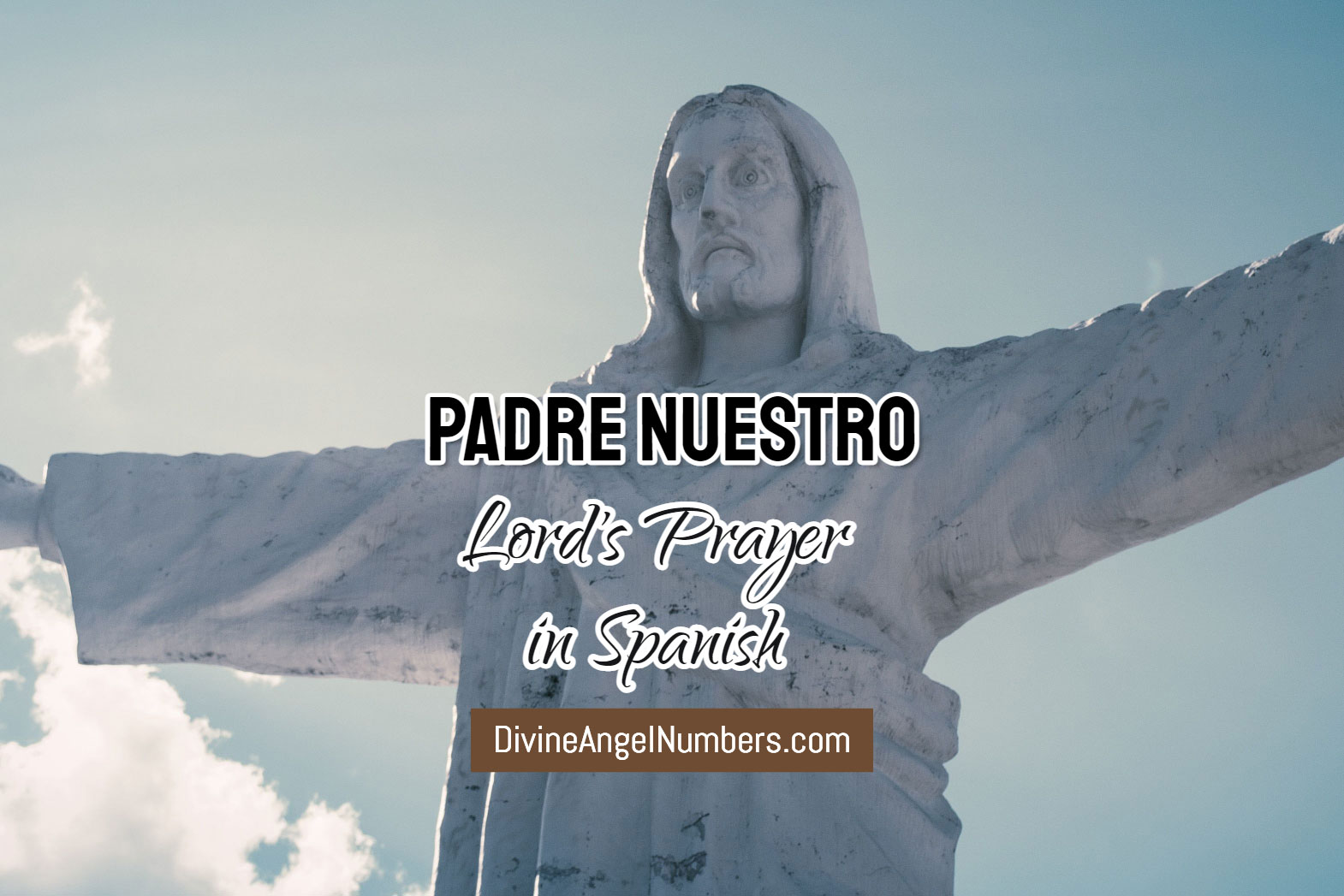 Padre Nuestro: Our Father (Lord's Prayer) in Spanish